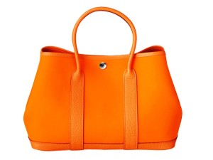 Hermes-Orange-Canvas-Garden-Party-Small-Bag